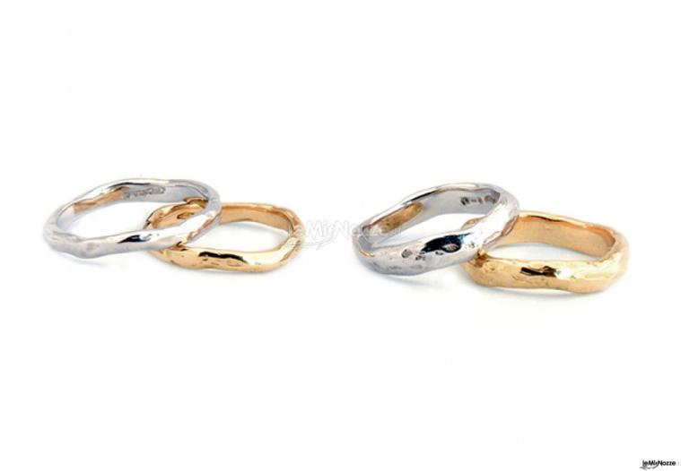 Eros Comin Gioielli - Fedi nuziali in oro bianco e giallo