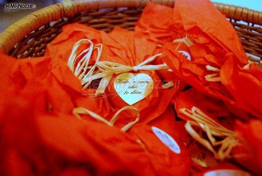 Cuori di cioccolato per gli invitati al matrimonio