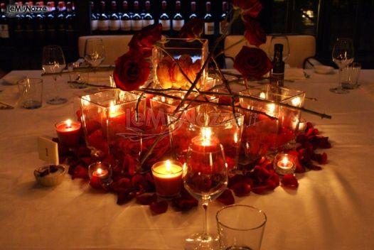 Foto 20 centrotavola matrimonio centrotavola con rose for Centrotavola matrimonio candele