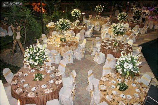 Addobbi tavoli per il ricevimento di matrimonio l - Tavoli addobbati per diciottesimi ...