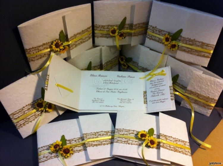 Matrimonio Fiori Girasole : Stampa e crea partecipazioni nozze con girasoli