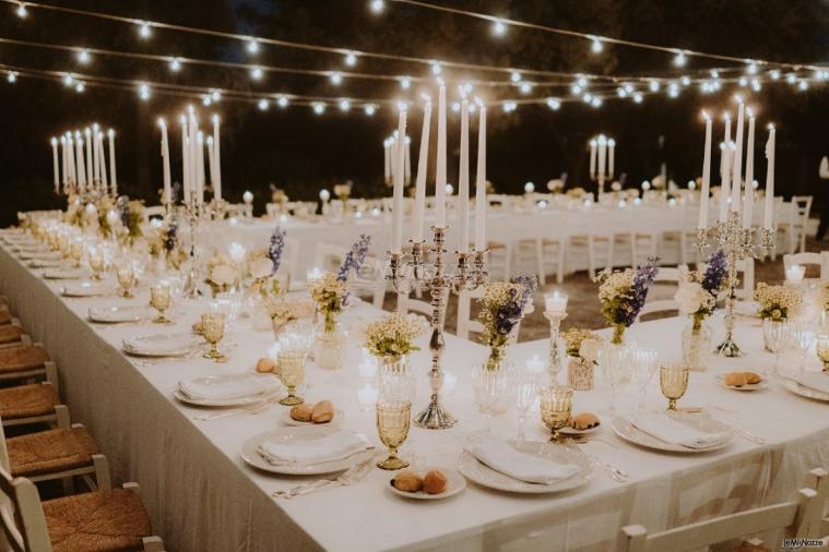 Villa Cenci - Matrimonio serale nell'aia