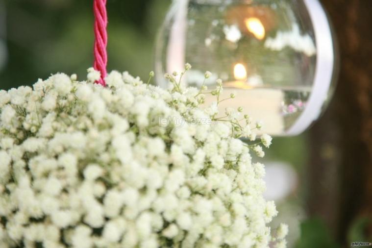 La Terra degli Aranci - Dettaglio dell'allestimento floreale del matrimonio