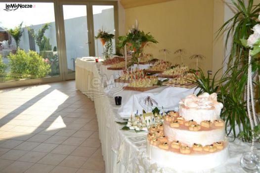 Il Tempio di Giove - Allestimento del buffet per le nozze