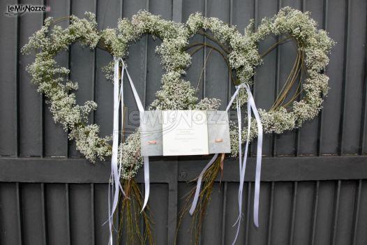 Foto 223 addobbi floreali location allestimento portone di casa dei futuri sposi - Come addobbare la casa della sposa il giorno del matrimonio ...