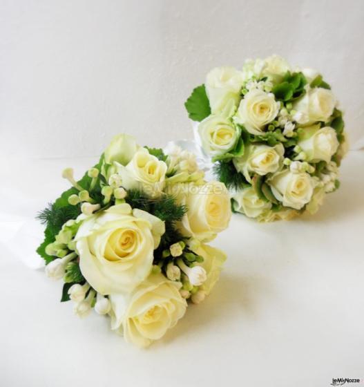 Bouquet Sposa Bianco E Verde.Bouquet Da Sposa Bianco E Verde La Gardenia La Gardenia Foto 1
