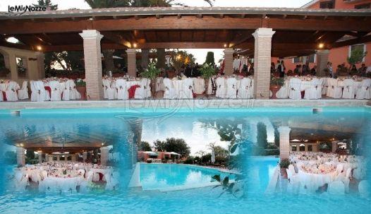 Villa con piscina per il ricevimento di matrimonio villa for Addobbi piscina per matrimonio