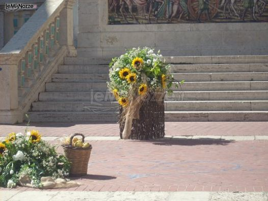 Addobbi Floreali Matrimonio Country Chic : Foto addobbi floreali chiesa e cerimonia
