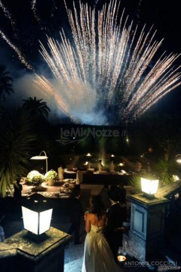 Villa Vergine - Fuochi d'artificio durante la festa di matrimonio