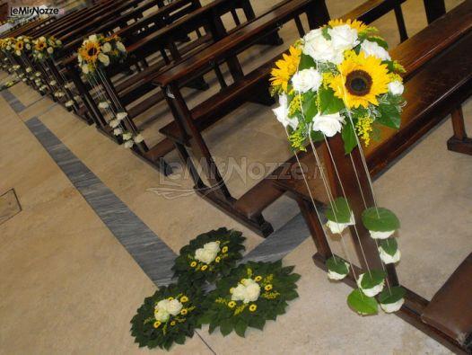 Partecipazioni Matrimonio Con Girasoli : Foto addobbi floreali chiesa e cerimonia girasoli
