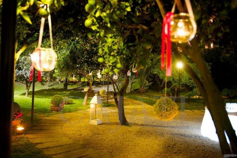 La Terra degli Aranci - Allestimento e luce d'atmosfera per il matrimonio