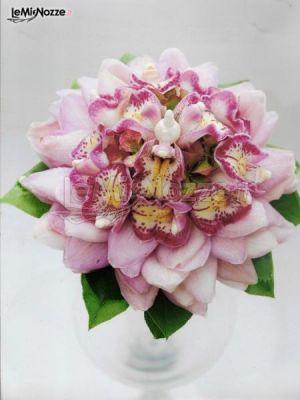 Bouquet Sposa Unico Fiore.Foto 160 Matrimonio In Rosa Bouquet Di Orchidee Rosa Che