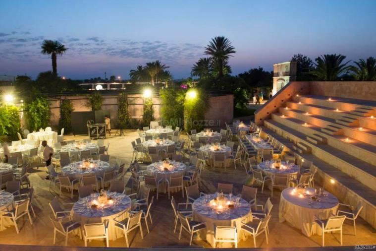 Grand Hotel Masseria Santa Lucia - L'allestimento per il ricevimenti di sera