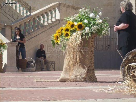 Partecipazione Matrimonio Girasoli : Foto addobbi floreali chiesa e cerimonia