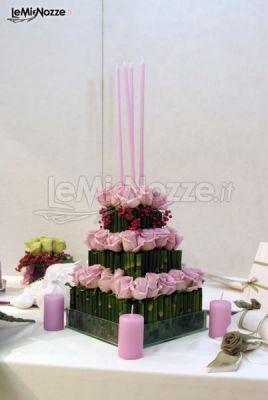 Matrimonio Tema Floreale : Foto centrotavola matrimonio composizione floreale a tema