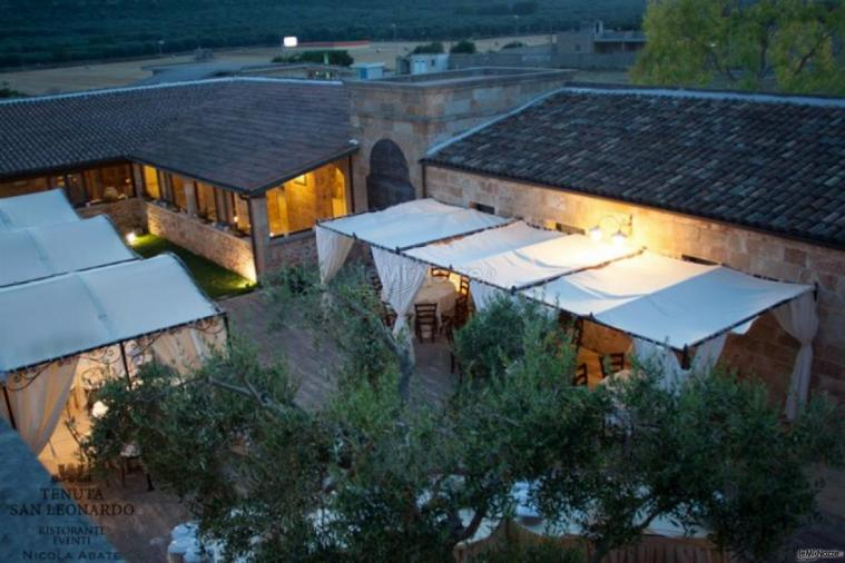 Tenuta San Leonardo - Una vista dall'alto del gazebo