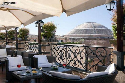Terrazza panoramica a Roma con vista sul Pantheon - Grand Hotel de ...