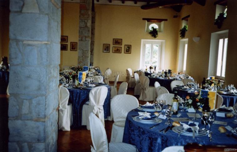 Villa Fabio - Allestimento in blu