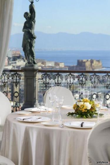 Grand Hotel Parker's - Tavoli per il matrimonio con vista sul Golfo di Napoli