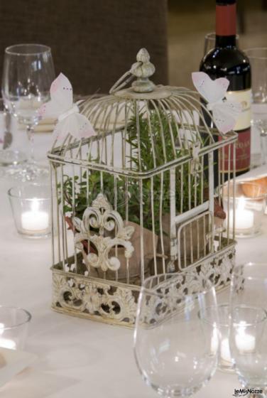 Ristorante Alla Veneziana - Centrotavola di nozze con piante aromatiche