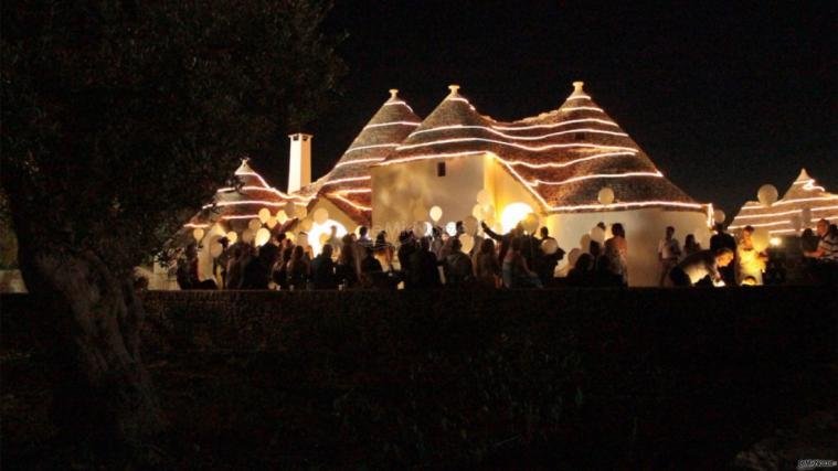 Grand Hotel La Chiusa di Chietri - La festa di nozze di notte