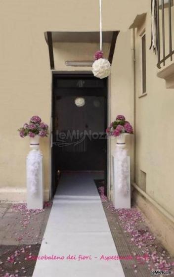 Foto 89 matrimonio in lilla addobbi floreali per la - Addobbi floreali casa sposa ...
