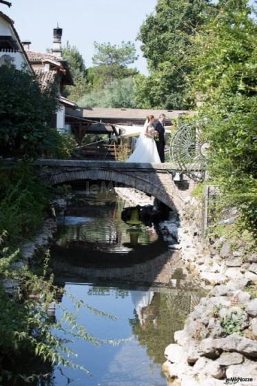 Matrimonio al Parco Gambrinus: l'arrivo della sposa nel parco