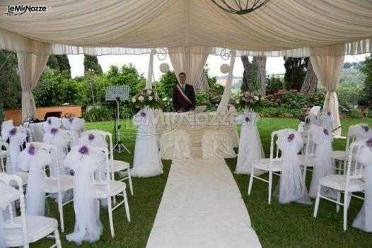 Cerimonia di matrimonio in giardino villa ales foto 5 - Matrimonio in giardino ...