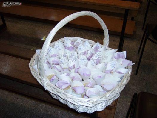 Coni portariso per il matrimonio eventinroma wedding - Cesto porta coni di riso ...