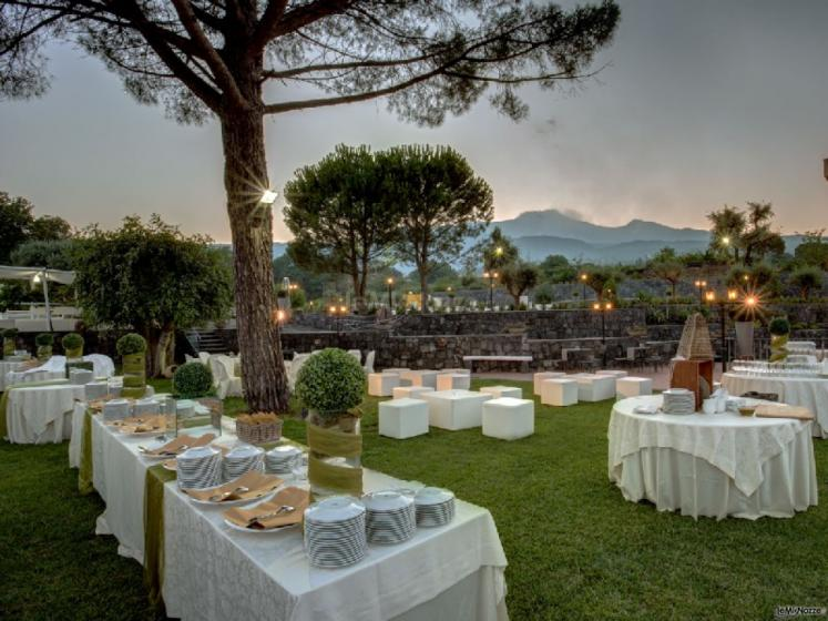 Buffet di matrimonio all 39 aperto villa del casale - Giardini di villa fago ...