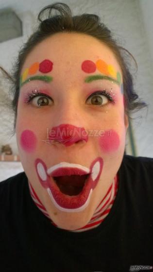 Faccia Da Clown Happy Baby Party Foto 1