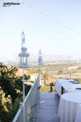 Terrazza della villa per matrimoni a Bologna