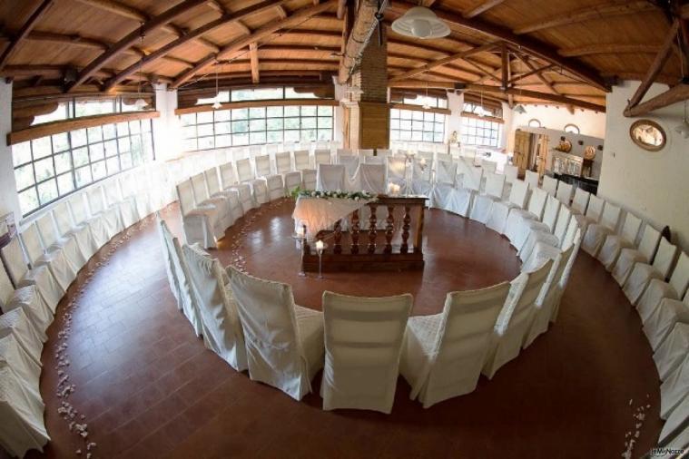La Sala Parco allestita per il rito civile
