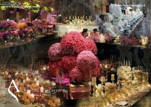 Foto 369 centrotavola matrimonio decorazioni floreali for Decorazioni tavoli matrimonio