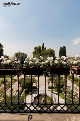Vista del giardino di Villa Scorzi