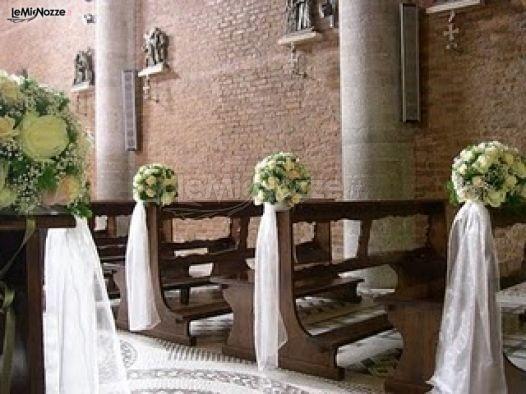 Addobbo floreale romantico per il matrimonio
