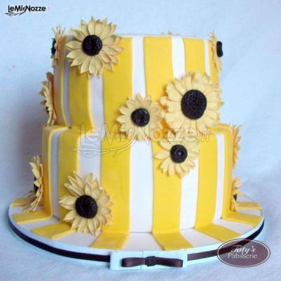 Torte Matrimonio Girasoli : Foto 145 torte nuziali artistiche torta girasole lemienozze.it
