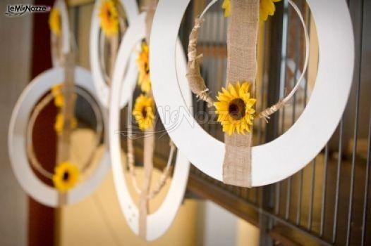 Idee Per Matrimonio Tema Girasoli : Foto 266 addobbi floreali location allestimento nozze tema