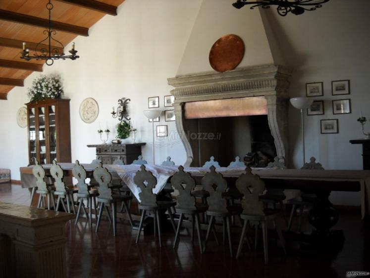 Sala con camino per le nozze