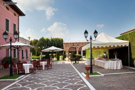 Gazebo Per Matrimonio In Giardino : Ricevimento di matrimonio in giardino villa la meridiana