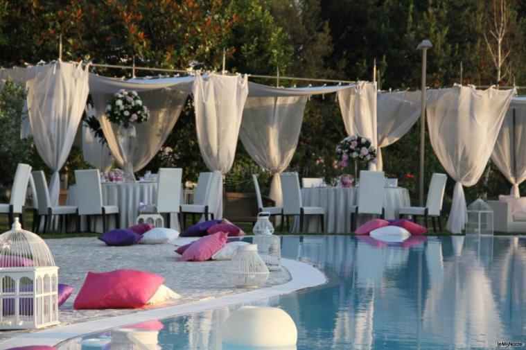 Relais tenuta san domenico tenuta matrimoni caserta for Addobbi piscina per matrimonio