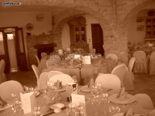 Sala interna per il ricevimento di matrimonio