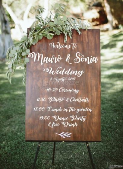 Photo Table Home Made - Programma wedding