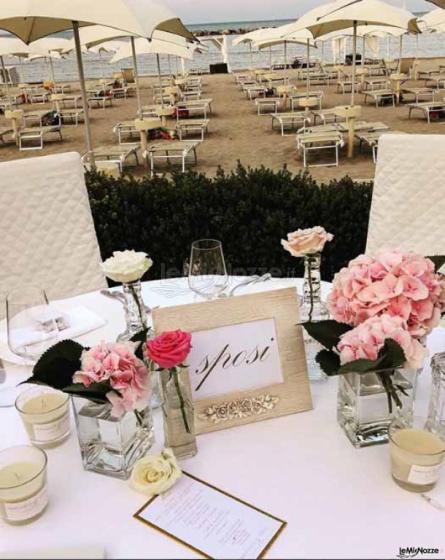 360gradieventi - L'allestimento del tavolo degli sposi
