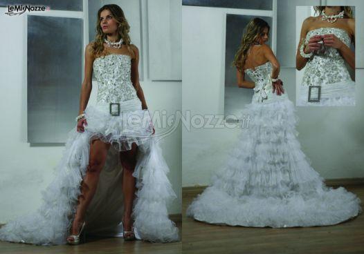 Foto 1 - Abiti da sposa corti - Abito da sposa asimmetrico ... Christina Ricciuti