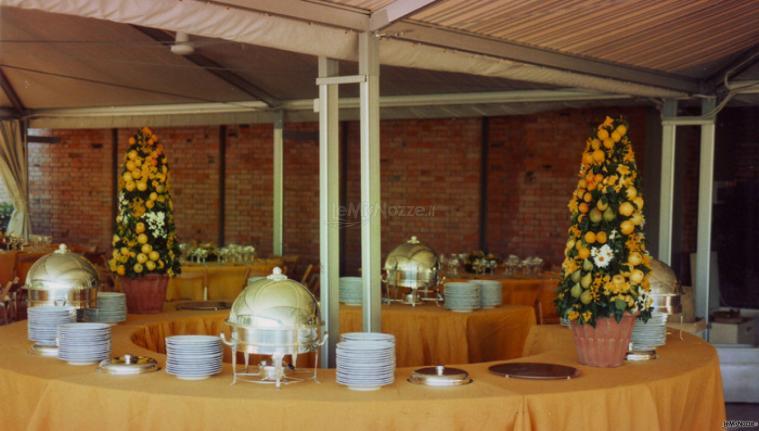 ... matrimonio - Decorazioni di frutta per il tavolo del buffet