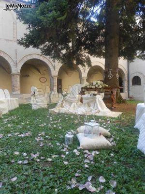 Allestimento del giardino per la cerimonia di matrimonio for Allestimento giardino matrimonio