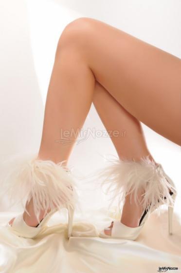 Scarpe per la sposa con piume - Lorusso Alta Moda