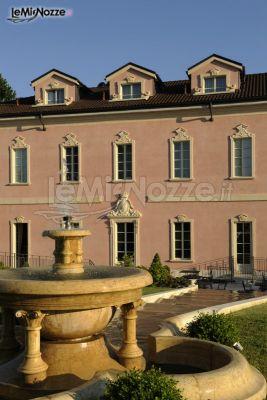 Esterno del Palazzo con scenografica fontana