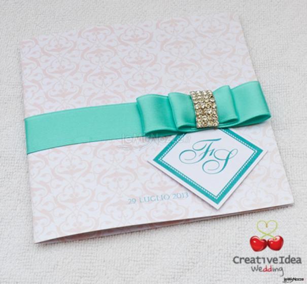 abbastanza Partecipazione di nozze in verde Tiffany - Creative Idea Wedding  JJ17